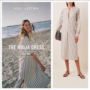 Nili Lotan Malia Stripe Cotton Beach Resort Dress